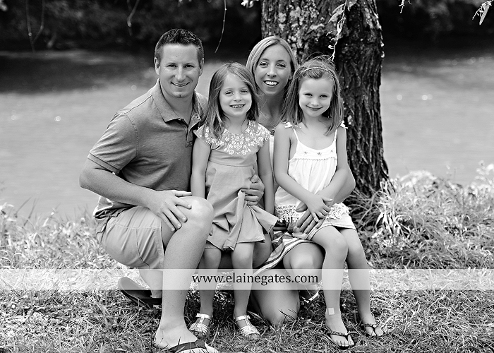 Mechanicsburg Central PA family portrait photographer outdoor children kids daughters sisters mother father field grass rocks water creek stream tb 09