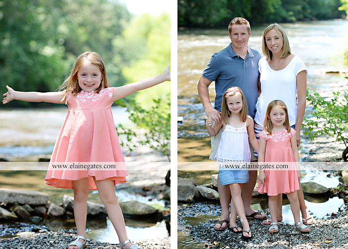 Mechanicsburg Central PA family portrait photographer outdoor children kids daughters sisters mother father field grass rocks water creek stream tb 12