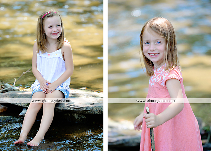 Mechanicsburg Central PA family portrait photographer outdoor children kids daughters sisters mother father field grass rocks water creek stream tb 13