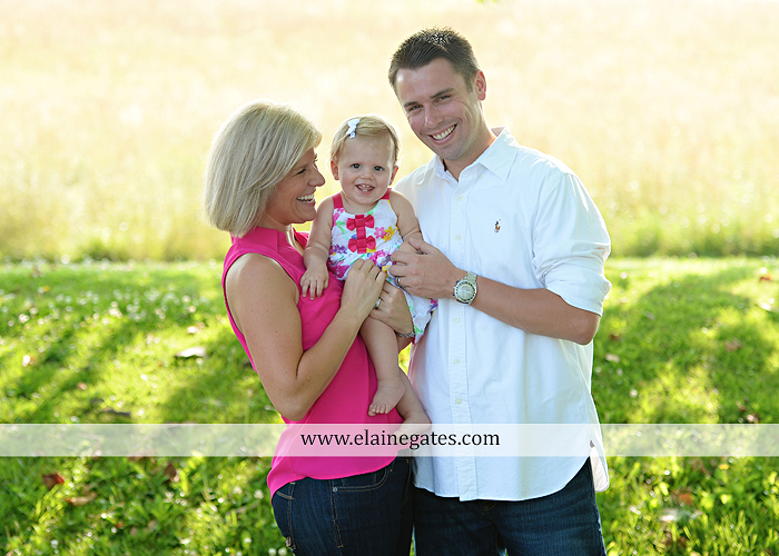 Mechanicsburg Central PA baby child portrait photographer girl outdoor family mom dad daughter road trees grass kiss stuffed animal field jt 2