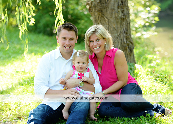 Mechanicsburg Central PA baby child portrait photographer girl outdoor family mom dad daughter road trees grass kiss stuffed animal field jt 7