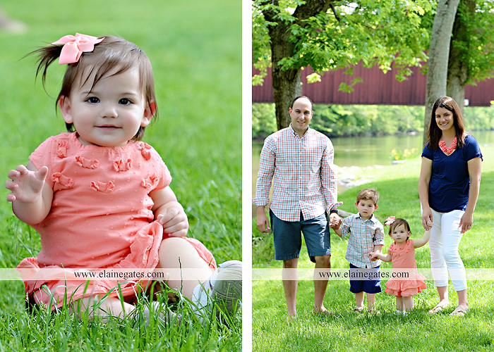 Mechanicsburg Central PA family portrait photographer outdoor children kids mother father brother sister grass trees water creek rocks covered bridge messiah college wildflowers wooden beams sf 07