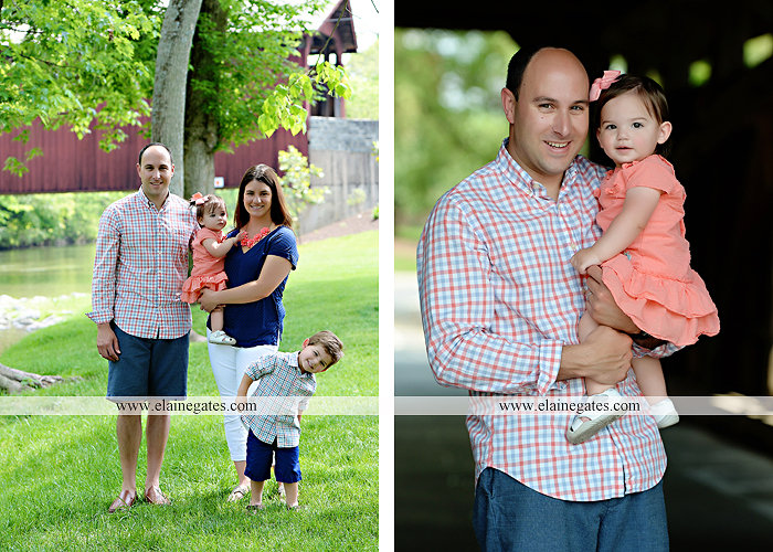 Mechanicsburg Central PA family portrait photographer outdoor children kids mother father brother sister grass trees water creek rocks covered bridge messiah college wildflowers wooden beams sf 08