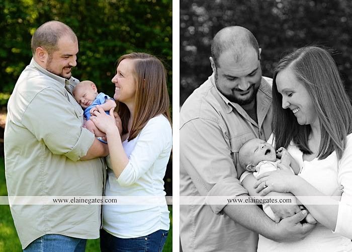Mechanicsburg Central PA newborn baby portrait photographer boy sleeping blanket knit hat foot hand father dad mom mother kiss mb 10