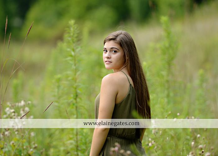 mechanicsburg-central-pa-senior-portrait-photographer-outdoor-girl-female-formal-swing-tree-hammock-grass-wildflowers-field-water-creek-stream-rocks-fallen-tree-kl-07