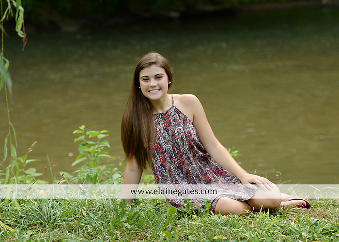 mechanicsburg-central-pa-senior-portrait-photographer-outdoor-girl-female-formal-swing-tree-hammock-grass-wildflowers-field-water-creek-stream-rocks-fallen-tree-kl-10