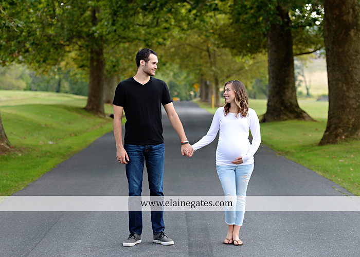 mechanicsburg-central-pa-portrait-photographer-maternity-outdoor-mother-father-road-hay-bale-tree-water-creek-stream-fence-baby-belly-hug-kiss-holding-hands-cl-1